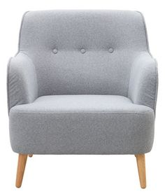 Quest Padded armchair - Base in solid oak Grey melange by House Doctor - Design furniture and decoration with Made in Design