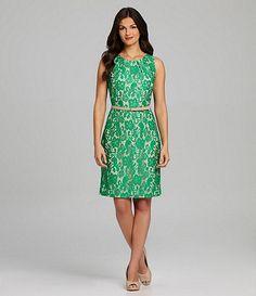 Alex Marie Nina Green #Lace Dress #Dillards