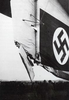 Damage sustained to the Hindenburg in 1936.