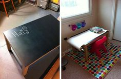 Tables for children to express their imagination.