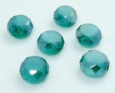 70 pieces-swarovski faceted 3x4mm emerald crystal loose beads