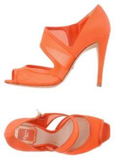 Dior Orange Pumps