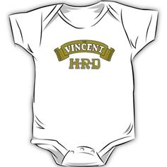 the Vincent motorbike baby clothes