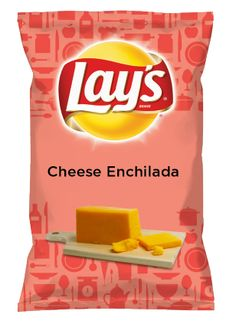 Wouldn't Cheese Enchilada be yummy as a chip? Lay's Do Us A Flavor is back, and the search is on for the yummiest chip idea. Create one using your favorite flavors from around the country and you could win $1 million! https://www.dousaflavor.com See Rules.