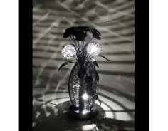 Cascade Black Wire Table Lamp