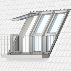 VELUX CABRIO™ und VELUX Dachbalkon - Ein Schritt ins Freie