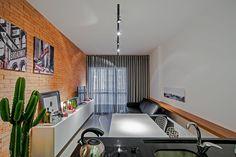 Projeto de apartamento pequeno de 30m², prático e bem aproveitado. Via Studio Boscardin.Corsi Arquitetura.