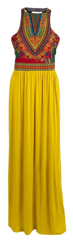 The Mamie Ruth Selma Maxi Dress features a beautiful patterned top with a comfy flowy skirt and bac......Price - $148.00