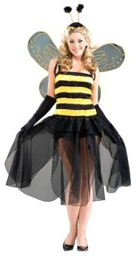 Adult Fairy Bumble Bee Costumes - Adult Halloween Costumes
