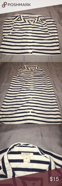 Jcrew blouse Jcrew striped sleeveless blouse. Size 00, but can fit a 2. Great for the office paired with slacks. Worn once J. Crew Tops Blouses