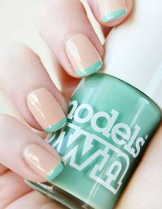 New Tipped Look in Nude and Mint