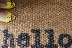 I have a jute rug just like this...I should definitely stencil it.