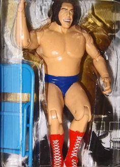 2005 WWE Classic Super Stars series 7 Andre The Giant blue trunks action figure #JAKKSPacific