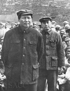 Chou En Lai and Mao Zedong . Chinese Culture, Chinese Art, Mao Zedong, Asian History, China, Second World, World Leaders, World History, Revolutionaries