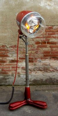 VINTAGE HAIR DRYER TURNED FLOOR LAMP....SO COOL The Art Of Up-Cycling: Diy Furniture, Really Cool, Repurposed, Reused And Recycled Furniture