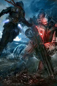"""""""Titanfall - When the Titans Fell, We Rose"""" by Derek Weselake (W-E-Z)   #SciFi #Mecha #Videogames"""