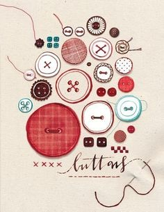 buttons print - this would be great to remake but with real buttons sewn into the paper.