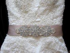 Wedding Dress Crystal Belt Embellished Sash, for my dress!