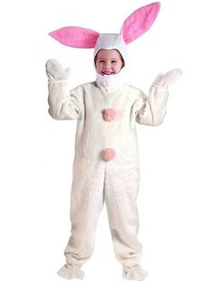 Child Easter Bunny Suit White Costume
