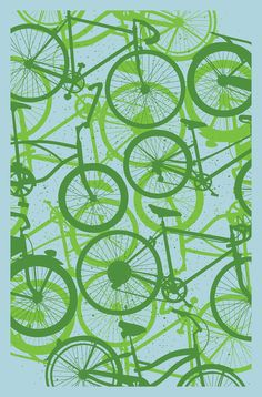 Image of Bicycle Art Print Bike Poster, Poster S, Poster Prints, Art Prints, Recycled Bike Parts, Bike Illustration, Bicycle Art, Bicycle Design, Cycling Art