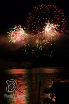 Fourth of July Fireworks at Portage Lakes in Akron, Ohio