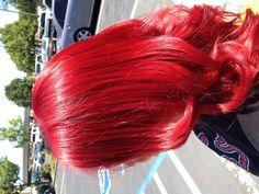 Bright red hair. Hair by Sumer Wade