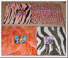 Animal prints art for Africa study lessons