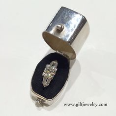 A classic beauty of platinum circa 1940 .86ct Old European Cut center diamond. Low profile and practical. $5695. Call to purchase. #giltjewelry #vintage #diamond #classic #engagement #engagementring #wedding #bridal #sparkle #showmeyourring