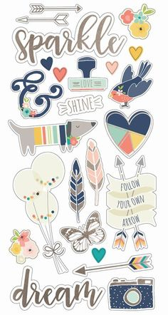 Printable Planner Stickers, Journal Stickers, Scrapbook Stickers, Scrapbook Supplies, Scrapbook Paper, Homemade Stickers, Diy Stickers, Image Clipart, Tumblr Stickers