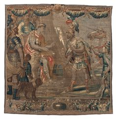 Tapestry weave, Julius Ceasar and Entourage, Flanders, 17th century
