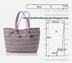 Ideas para el hogar: 6 Bolsos en costura fácil con moldes