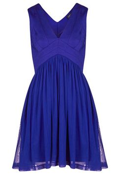 Bandage V Neck Skater Dress. The color, the v neck, the swirly skirt - I love everything about this!