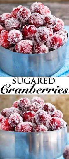 Learn how to make SUGARED CRANBERRIES with this easy recipe, requiring 4 simple ingredients. Lots of tips for no popping and cracking! Great for topping on cakes and cupcakes or just snacking during the Christmas holiday season! From cakewhiz.com