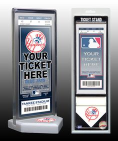 Thats My Ticket New York Yankees Ticket Stand