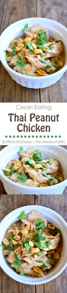 Clean Eating Recipes   Clean Eating Thai Peanut Chicken   Thai Chicken Recipes   Dinner Recipes   Dinner Ideas