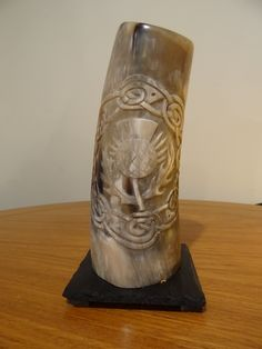 "Horn Table Lamp / Celtic enterlacing / ""Scottish Thistle"""