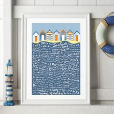 Let's go the the Seaside Print by Tabitha Mary.   £16.00–£105.00  Let's go to the Seaside is a playful typography print where I reflect on all those things that remind me of visiting the seaside.  I am inspired by the old railway posters, my prints are now available as digital prints, signed Giclee prints both with an option of framing.