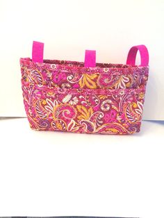 Pink Quilted Paisley Walker Bag - Scooter Bag - Walker Pouch on Etsy, $28.00