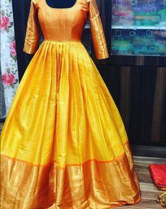 Kanjeevaram the heavenly silk . Kanjeevaram the heavenly silk . Indian Fashion Dresses, Indian Gowns Dresses, Indian Designer Outfits, 50s Dresses, Wedding Dresses, Long Gown Dress, Saree Dress, Silk Dress, Long Frock