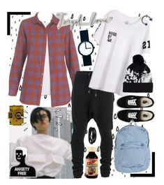 """forgetful"" by ju-on ❤ liked on Polyvore featuring Balmain, Vans, Porsche Design, American Apparel, Holga, Issey Miyake, Topman, Old Navy, men's fashion and menswear"
