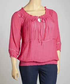 Take a look at this Punch Peasant Tunic - Plus by Simply Irresistible on #zulily today!