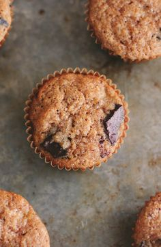 Banana Chocolate Coffee Whole Wheat Muffins #chocolate #breakfast #brunch #muffins