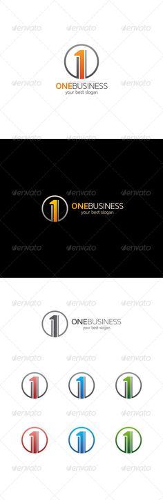 Number One Logo: Logo Number Design Template by asynchro. Circle Logo Design, Circle Logos, Logo Design Template, Logo Templates, Logo Branding, Logo Ad, Number One, Item Number, Cool Slogans