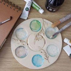 Handmade Ceramic Paint Palette