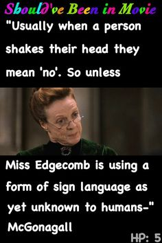 Harry Potter and the Order of the Phoenix Should've Been in Movie McGonagall Marrietta Edgecomb Umbridge funny