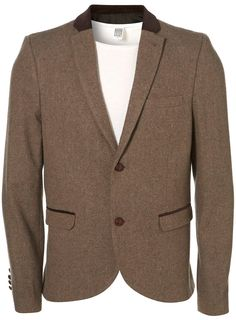 Camel Tweet Blazer... the cotton one is cheaper but this one is nicer :p    From TOPMAN