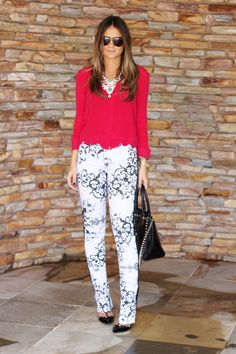 Black and White Pants - Thassia Naves
