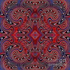 Americana Swirl Design 1    by S Loft Americana,red,white,blue,patriotic, patriotism,independence,independence day,July 4,Fourth of July,Memorial Day,national holidays,flag,flags,flag colors,national colors,liberty,freedom,civil rights,USA,America,American,United States,decor,home decor,holiday decor,digital, digital art