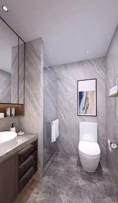 Toilet And Bathroom Design, Washroom Design, Bathroom Design Luxury, Home Interior Design, Master Bathroom, Cosy Bathroom, Minimal Bathroom, 5x7 Bathroom Layout, Modern Toilet Design
