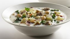 Fix this healthified Italian Sausage Soup for your family and you'll have them asking for some amoré!